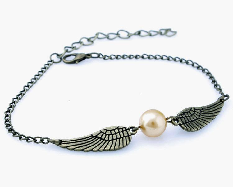 Harry Quidditch pulseras snitch dorada de moda para las mujeres y los hombres Potter pulseras lindo alas de la pelota de bonitos regalos