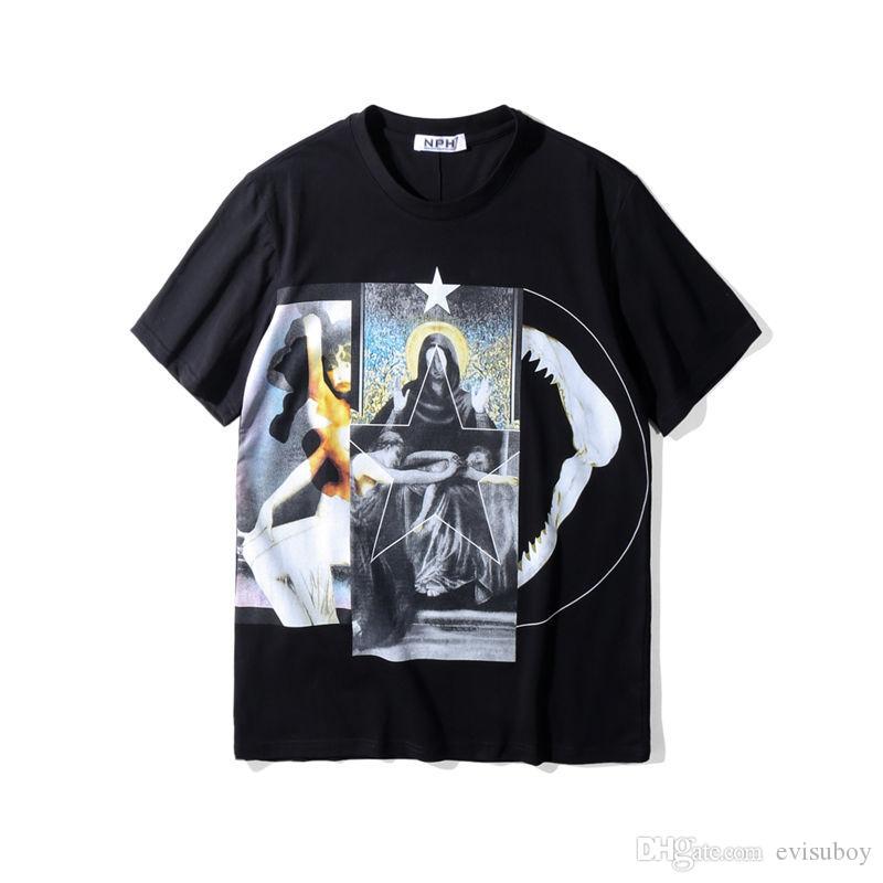 Erkek Stilist Tişörtlü Bakire Baskılı T Shirt Kısa Kollu Polo Erkekler Kadınlar Yaz Tişörtlü Casual Tees Boyut S-XXL