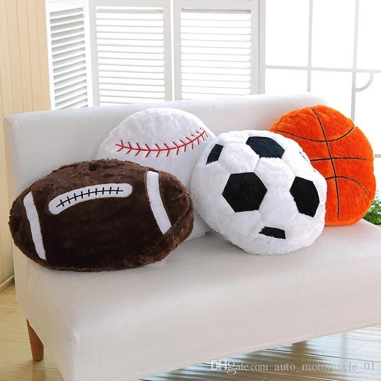 محاكاة لكرة القدم لعبة البيسبول وسادة أريكة وسادة قيلولة الوسائد الرياضة موضوع سائد كروية المشجعين الهدايا مقعد ديكور وسائد GGA1772