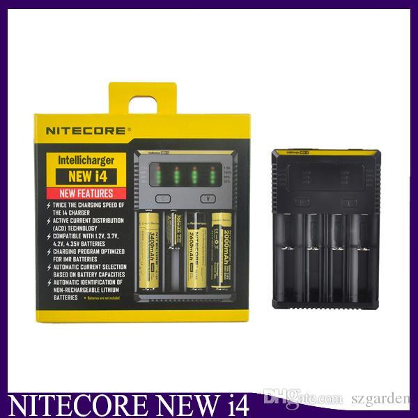 Nitecore I4 Carregador de Carregador Universal para 18650 16340 26650 10440 14500 Bateria Nitecore Carregador de Bateria 2238009