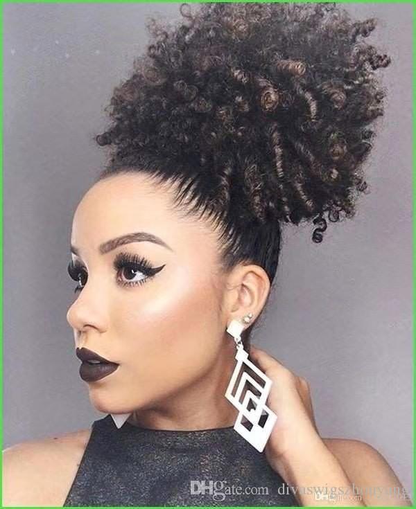 Натуральные волосы Afro Kinky фигурная хвостик человеческих волос для черных женщин Классическая девственница кутикулы выровнены наращивание волос