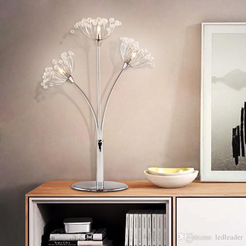 Nordic mesa de cristal moderna lâmpada luxo luz do quarto criativa lâmpada de cabeceira casamento quarto casamento decoração da lâmpada de mesa