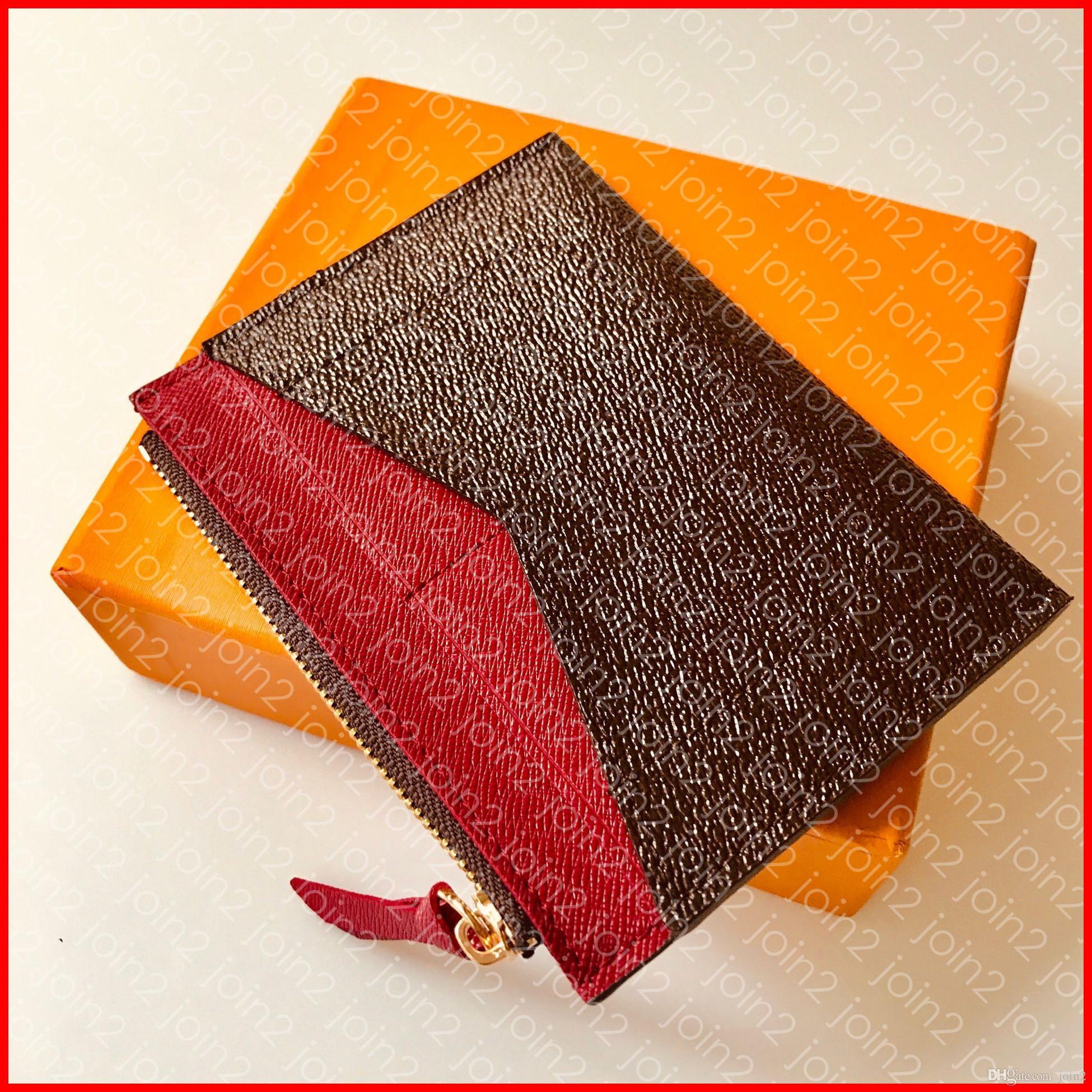 Titolare di carta ZIPPED Designer Fashion Portafoglio donna Porta carte di lusso Zippy Portamonete Portachiavi Borsa di marca Portafoglio Marrone Tela Spedizione gratuita