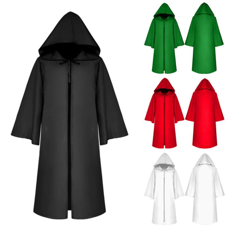 Adult Halloween Cape Hooded Cloak Fancy Dress Wicca Props Gothic Robe New Festival cosplay clothing suit Loose Men hoody jacket