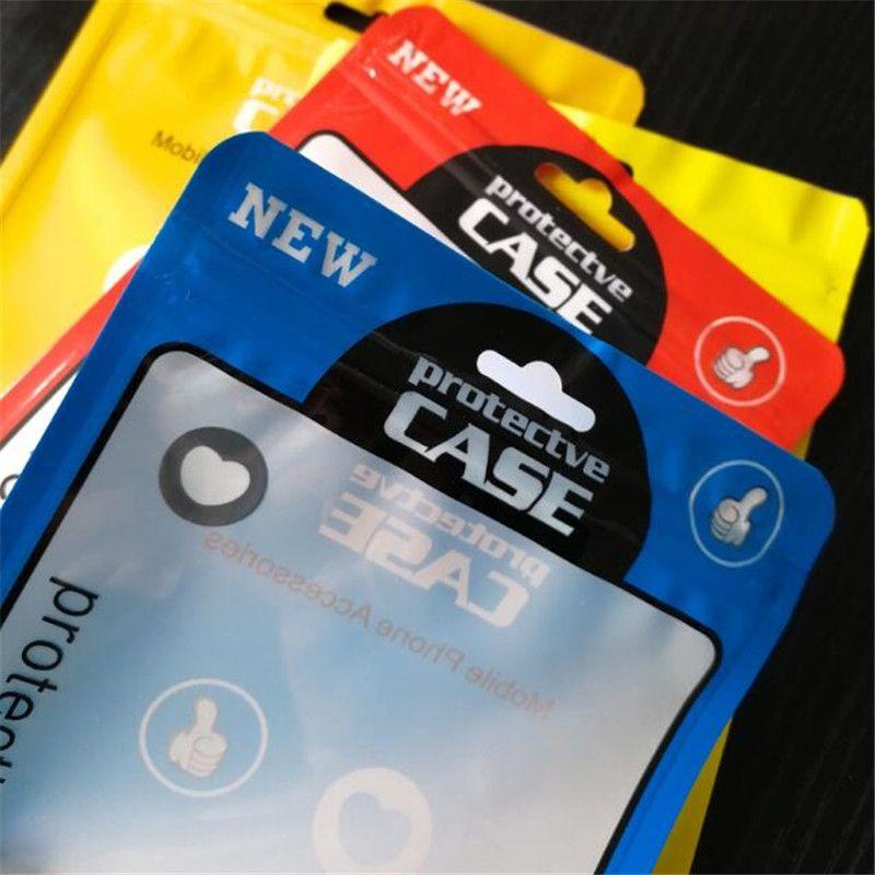 OPP PVC 폴리 가방 지퍼 포장 가방 플라스틱 소매 포장 패키지 파우치 아이폰 7 8 플러스 케이스 5.5 인치