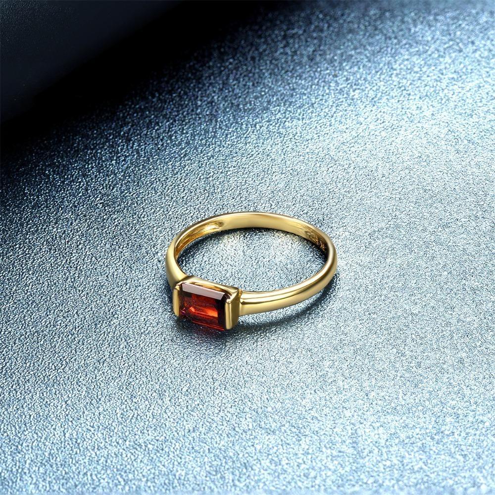 High Quality 9k White Gold Natural Garnet womens Band Ring Rose or White Gold or Platinum Yellow Customizable 9K,10K,14K,18K