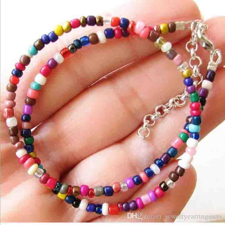 Bohême court Colliers pour femmes Collier Sautoirs main Joker coloré riz collier de perles Nouveau Bijoux 21 Styles