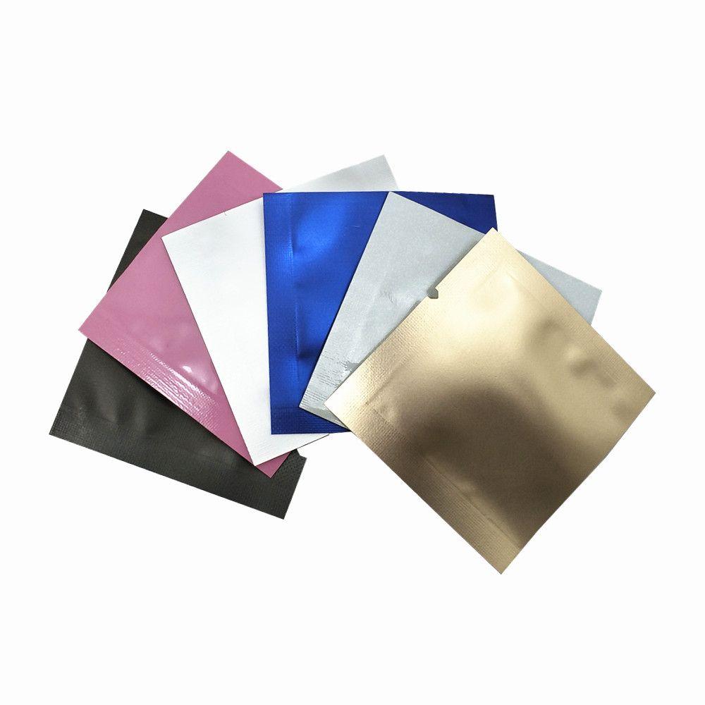 4.5x4.5cm Open Top Mylar Foil Packing Bag Heat Sealable Vacuum Package Bag Pure Aluminum Foil Bags Kitchen Candy Sugar Spice Storage Pouches