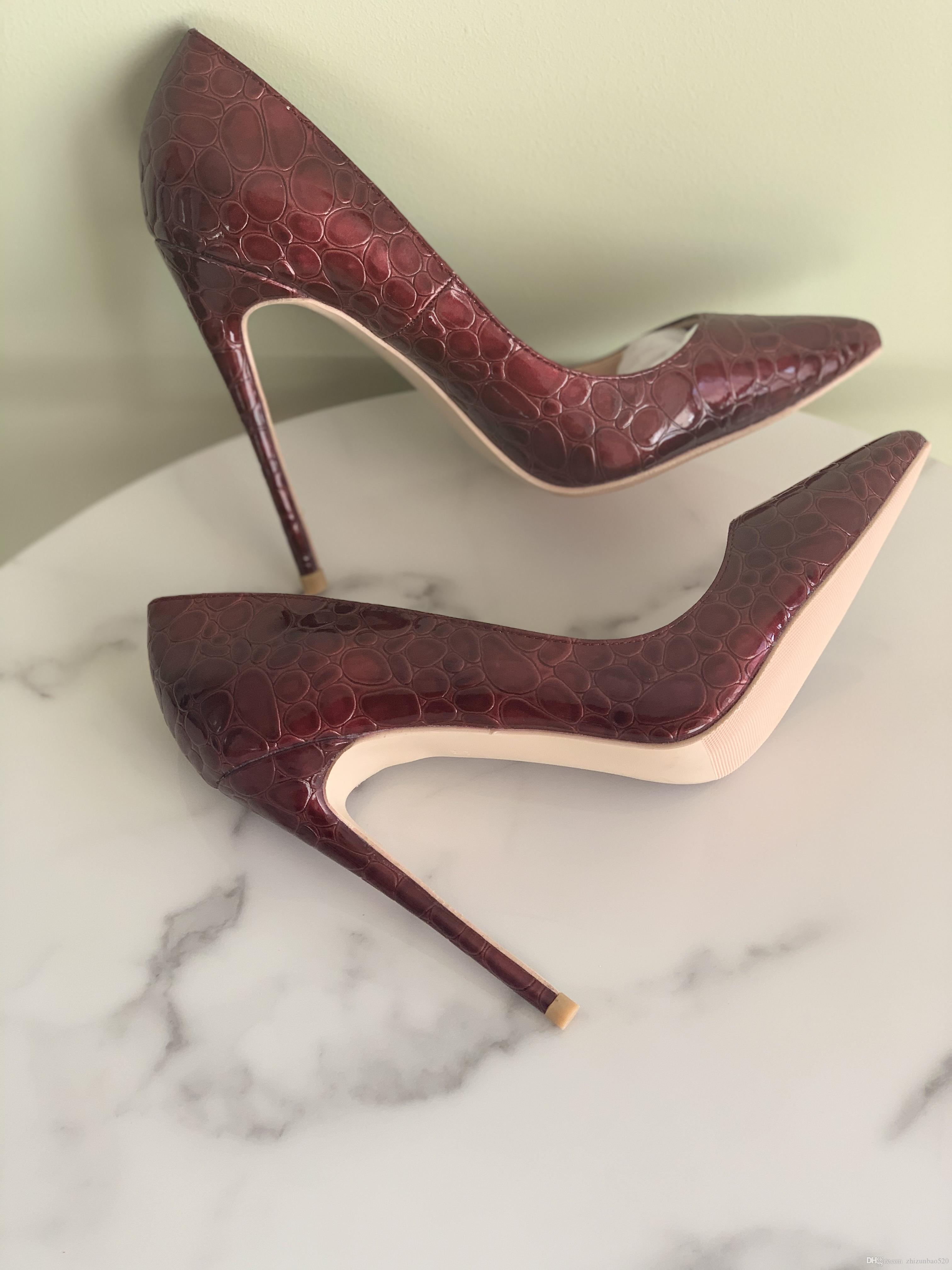 Casual Designer Sexy lady fashion women pumps Casual Designer burgundy patent leather Stiletto point toe flats shoes brand new party shoes