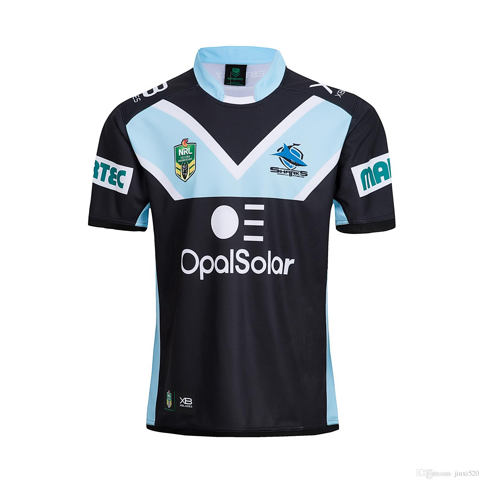 XBlades CRONULLA SHARKS 2018 NRL Black Mens Rugby Replica Playing Home Shorts