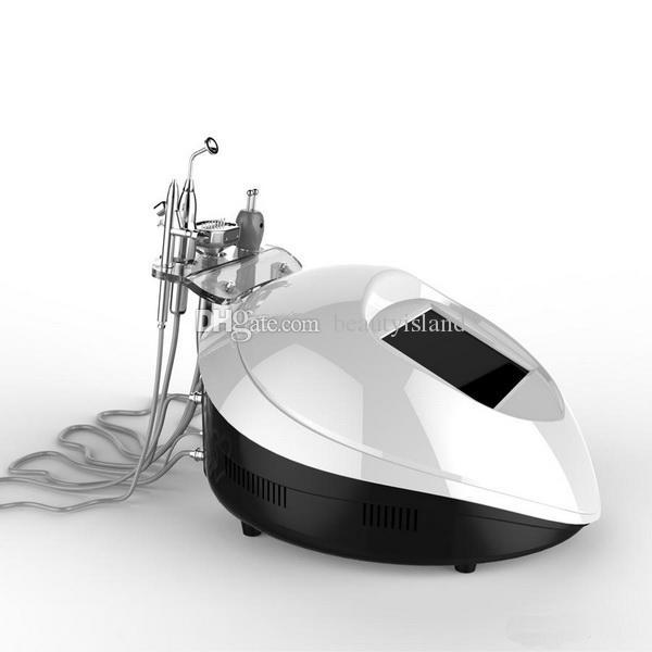 La rimozione di ossigeno portatile macchina facciale di ossigeno terapia a iniezione + Ossigeno polverizzatori + Bio Elettricità + LED Photon SPA Attrezzature per il pigmento
