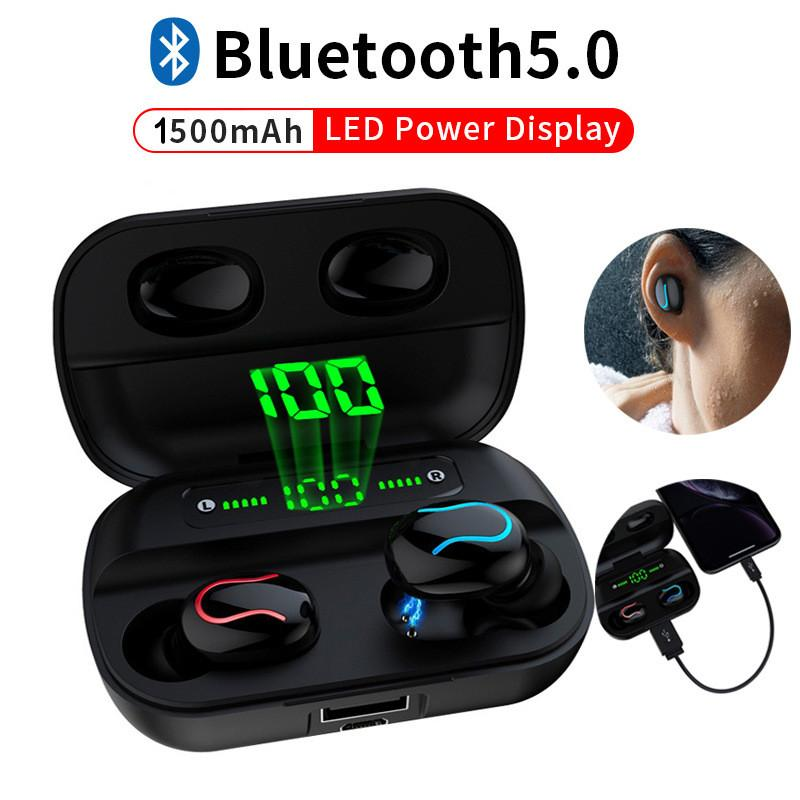 HBQ Q82 Led Wireless Bluetooth 5.0 наушники TWS Handfree Music стерео гарнитуры наушники вкладыши с микрофоном чехол для зарядки
