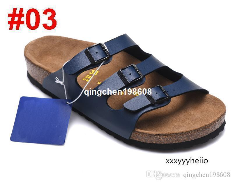 Arizona 2019 New Summer Beach Cork Slipper Tongs Sandales Femme Homme Couleur Slides Casual Chaussures plates Boulaq Livraison gratuite 34-46slide