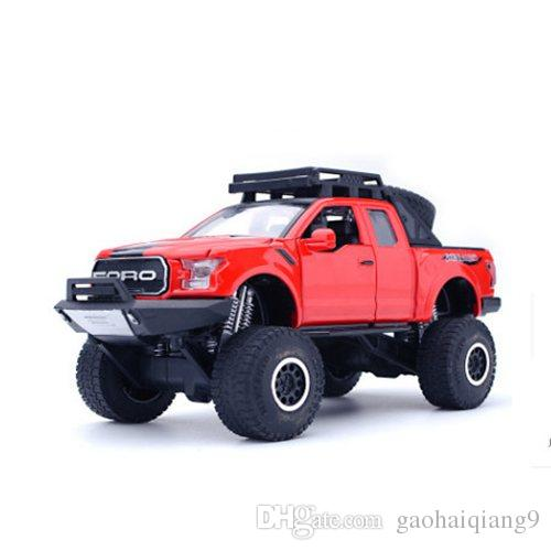1:32 فورد سبيكة التراجع على الطرق الوعرة نموذج سيارة لعبة جمع Brinquedos سيارة لعبة سيارة للأطفال هدية شحن مجاني