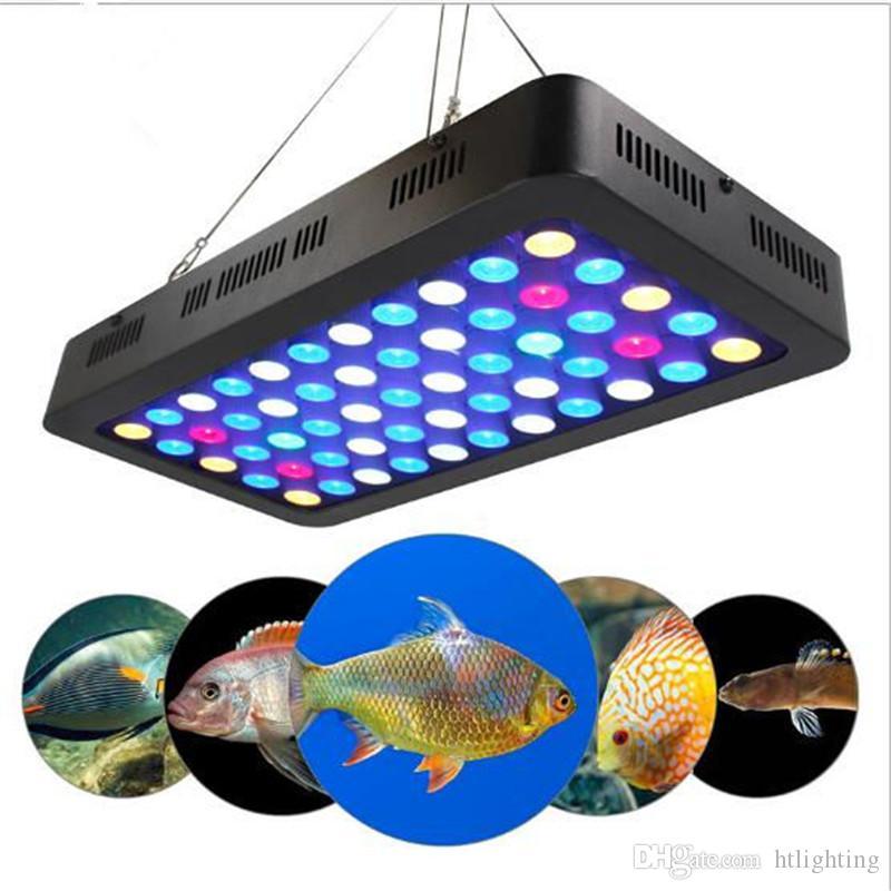 165W LED Аквариумные Огни 55 * 3 Вт Ручной Затемнения Full Spctrum Вырасти Света Аквариум Огни Кораллового Рифа