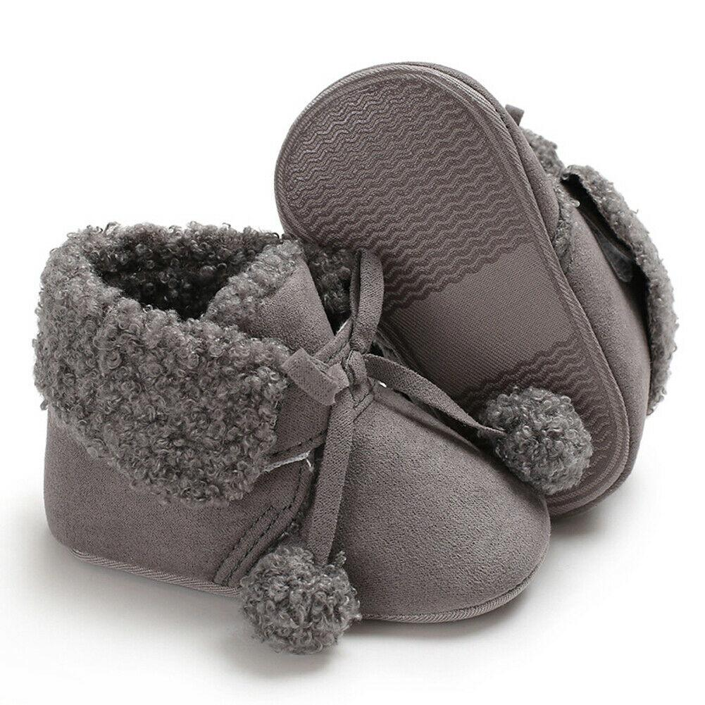 Baby girls Winter Warm Soft Sole Colorful Crib Shoes Toddlers Home Shoes Boots
