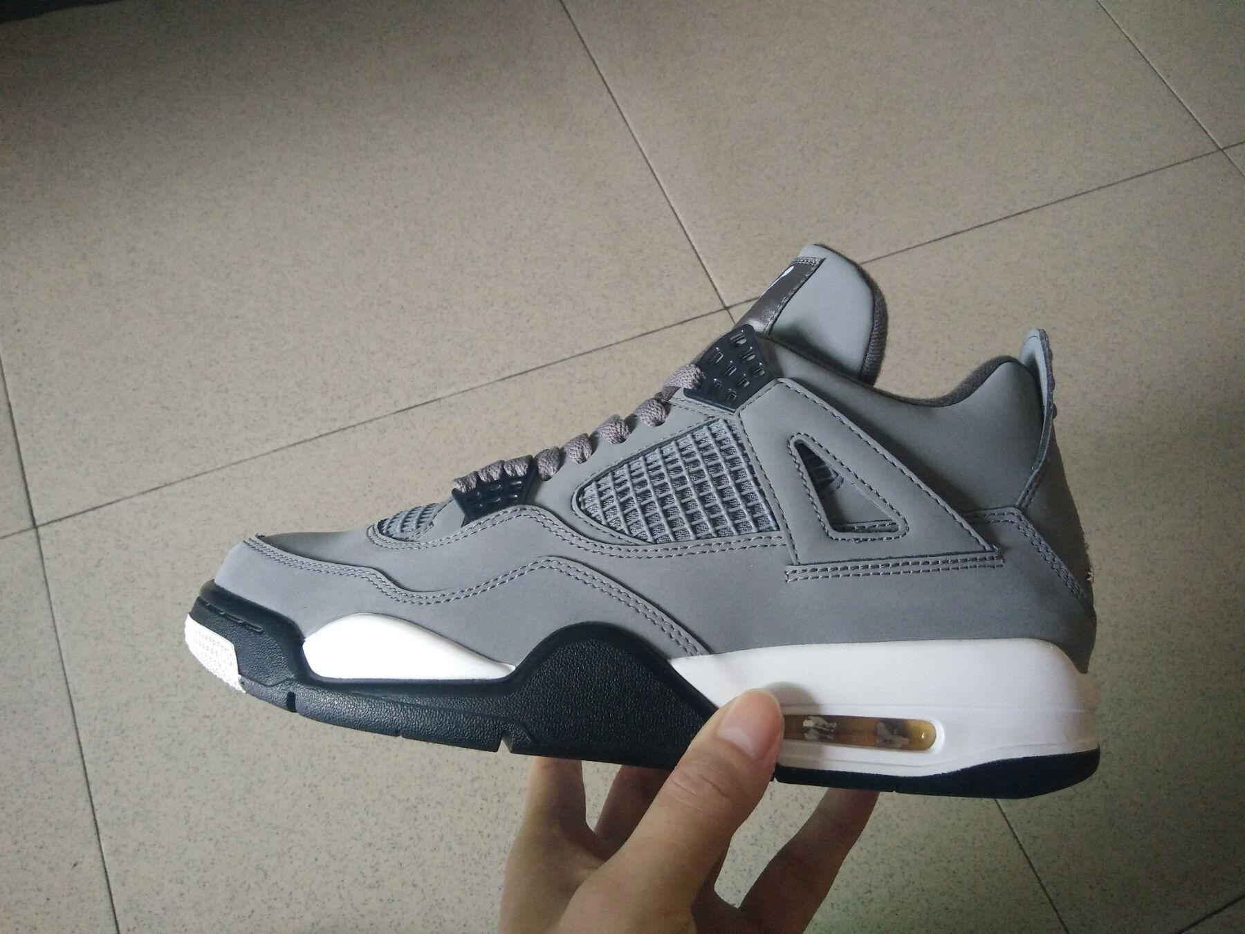 Siyah basketbol ayakkabı erkekler atletik ayakkabı Sneakers Serin Gri 308497-007
