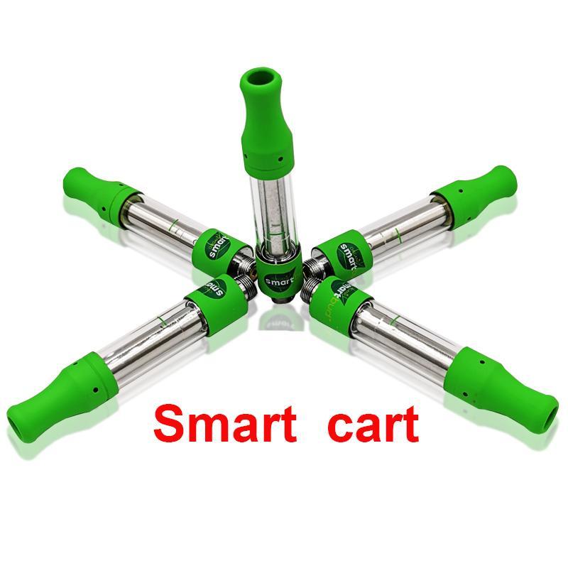 Smart Green Chariots Vape Cartouches Nouveau logo 1,0ml en céramique Bobine intelligente Chariots de vapeur Tank Top Remplissage