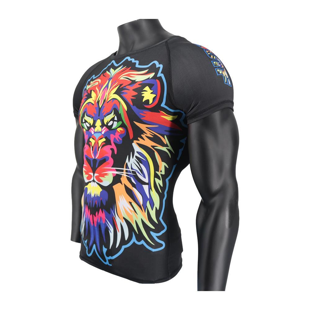 SOTF mma Impression Lettre Noir Fighting boxe Maillots Tiger Muay Thai Vêtements T-shirt Thaïlande Sauna Costume mma Compression Hommes