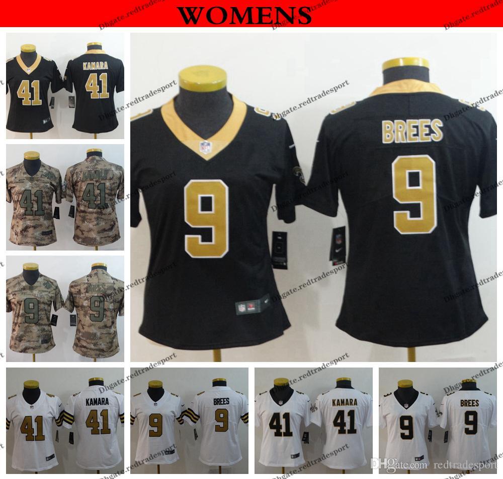 new arrival 70396 1da74 2019 Womens New Orleans Ladies Saints 9 Drew Brees 41 Alvin Kamara Football  Jerseys Cheap Stitched Shirts S XXL From Redtradesport, &Price; | ...