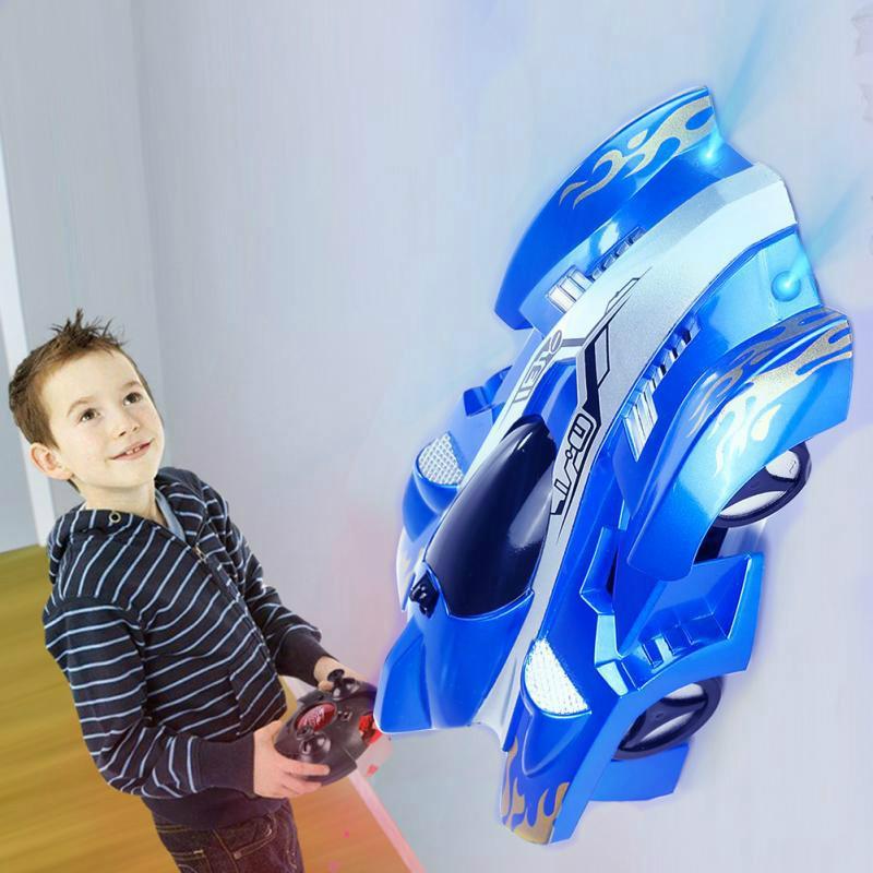 Новый автомобиля RC стены гоночный автомобиль игрушки лезут потолок лезть через стену пульт дистанционного управления автомобиль игрушки модель Рождественский подарок для детей (розничная)