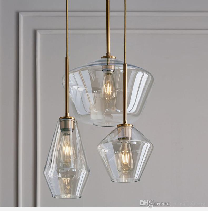 Nordic modern minimalist living room cafe bar tea restaurant bedroom color wave set glass pendant lights
