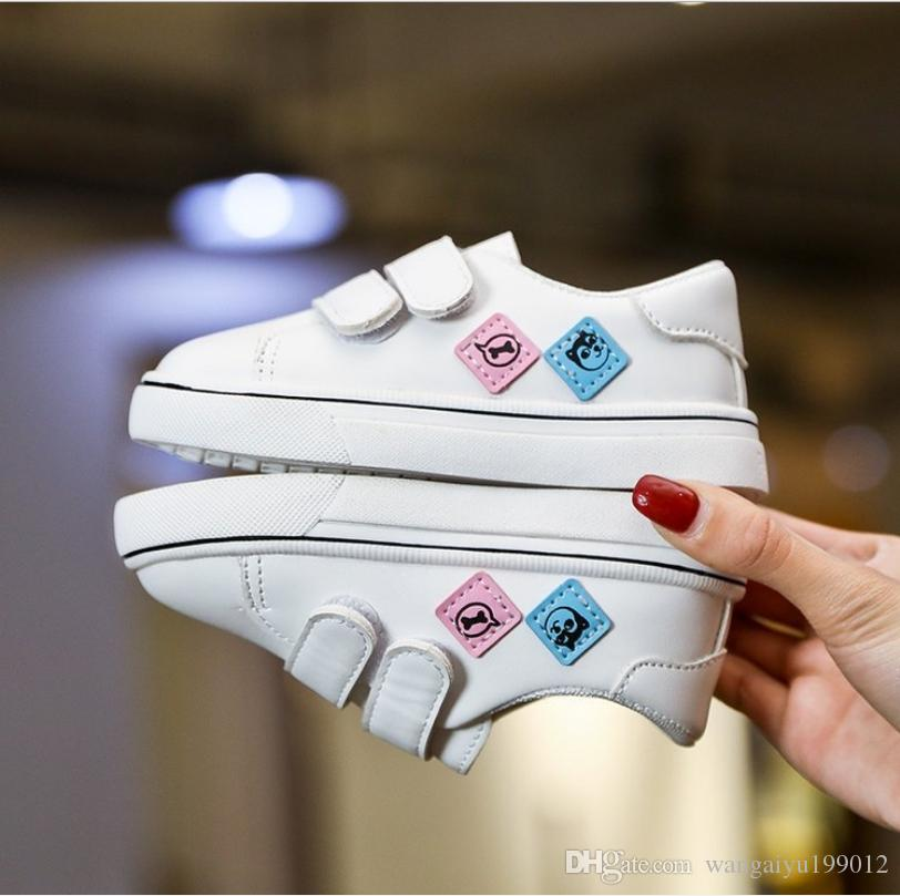 Fashion Children Boy Girl Flowers Casual Sports Shoes Student Walking Shoes Rose