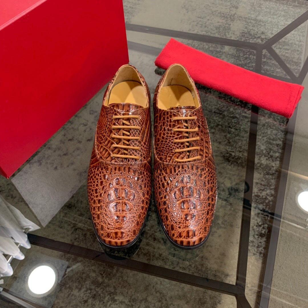 2019 мужчины натуральная кожа платье обувь Мода Марка свадебные оксфорд обувь мужской дышащий бизнес квартиры Zapatos Hombre размер 38-44
