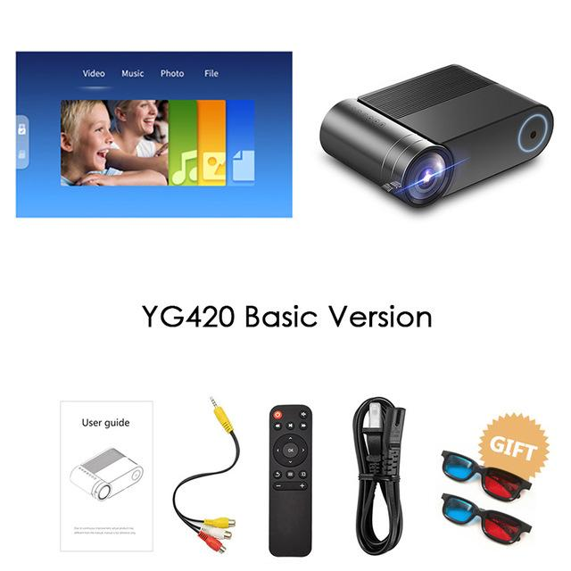 Freeshipping YG420 Full HD Projector 3800 Lumens Home Theater Video Beamer Proyector HDMI VGA AV USB with gift