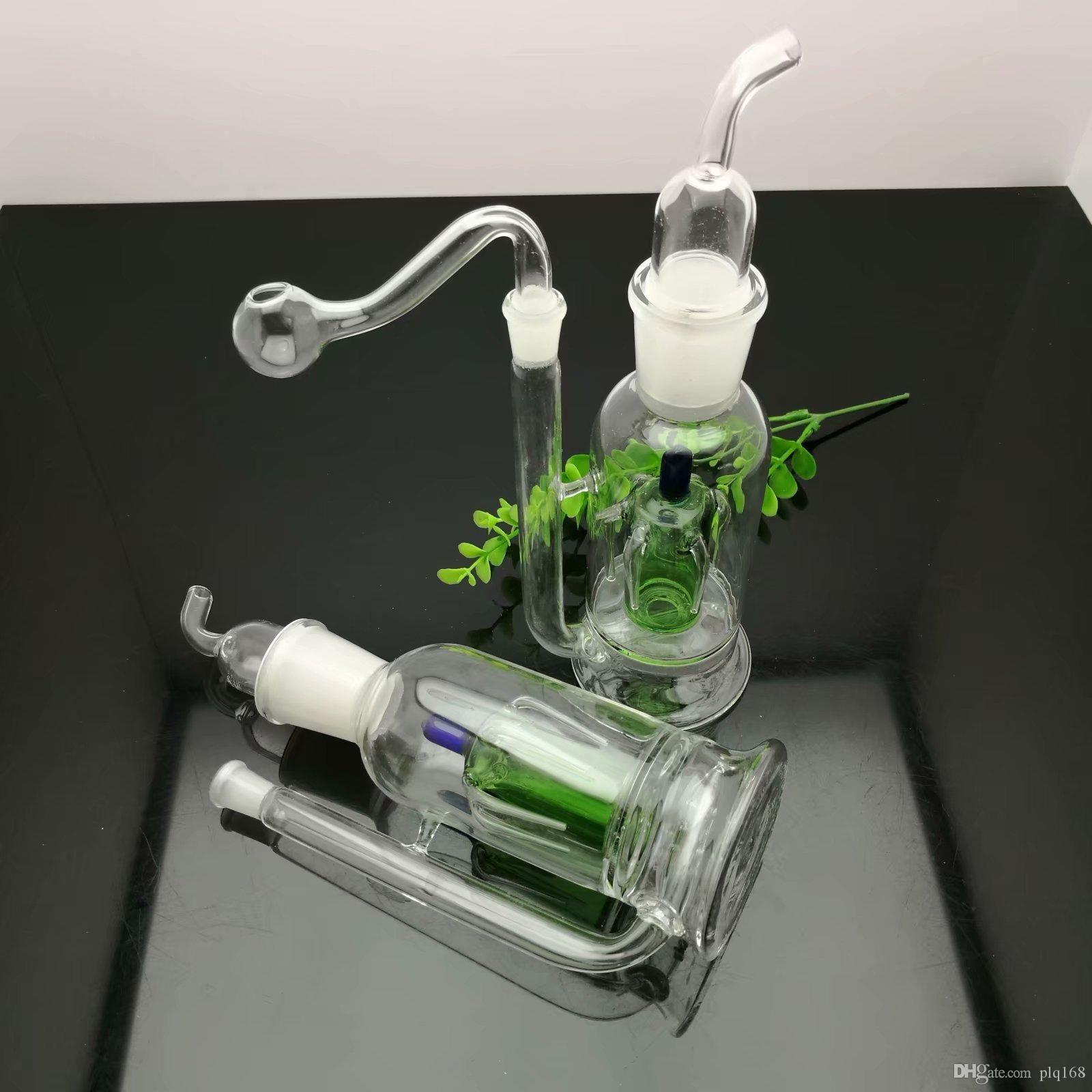 Nueva corona silencioso Filtrar tubos de vidrio al por mayor de Hotpot agua de cristal accesorios de cristal tabaco Ash Catcher