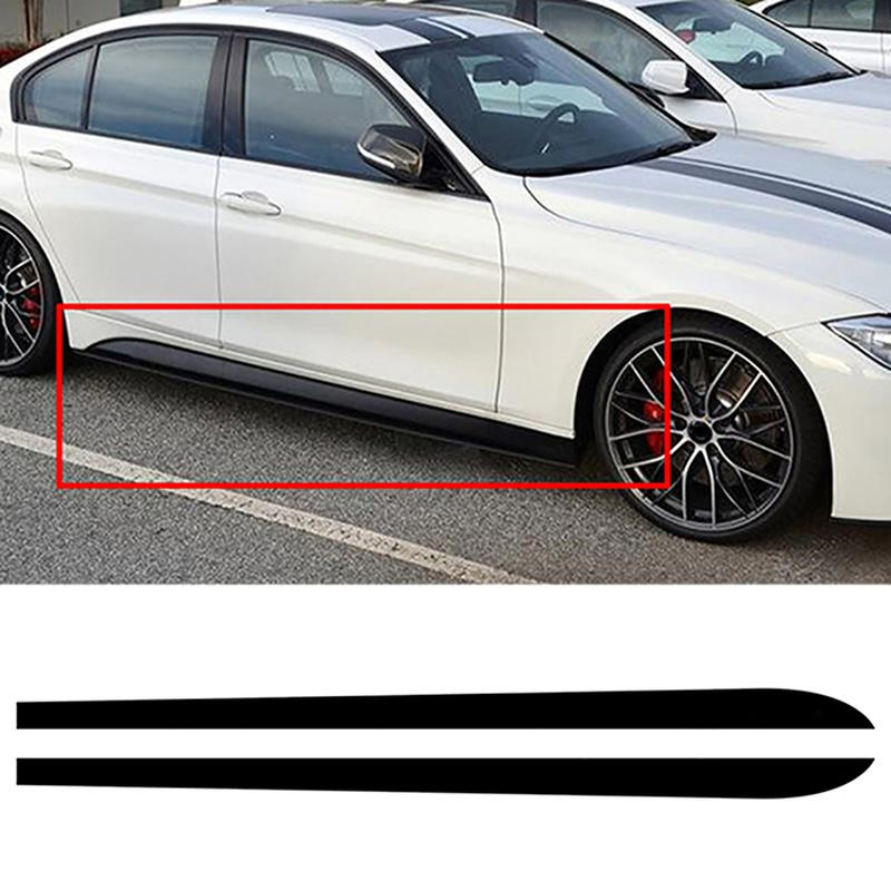 Car Door Side Skirts Stickers Black 2 Pcs Cars Bodys Decal Stripe Sticker for BMW 3 Series F30 F31 E90 Auto Exterior Accessories