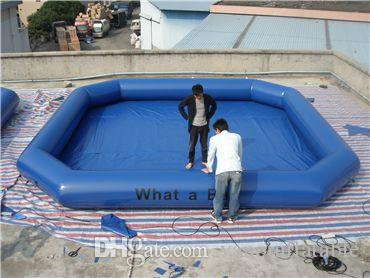 Inflatable Pool Game High Quality Commercial PVC 6x6m Walking Water Ball Pools Free Shipping Free Pump