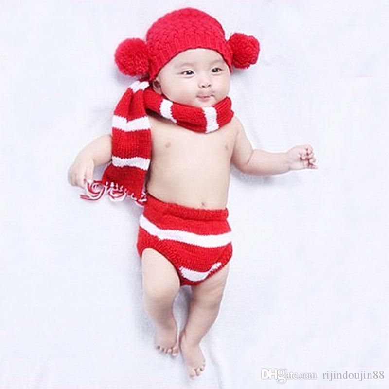 Newborn baby pom pom pom knit outfit neonato fotografia puntelli tiro baby fotografia accessori neonato foto cap baby puntelli vestiti