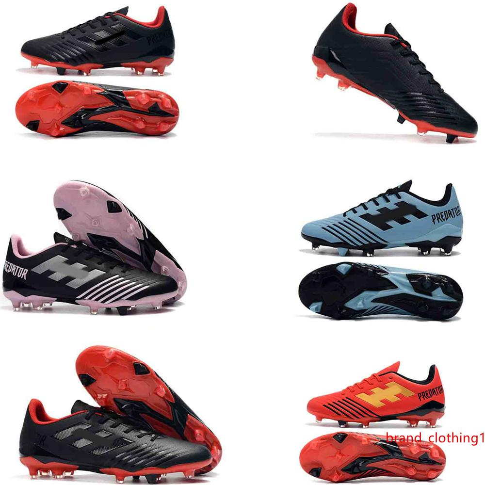 2019 New soccer shoes Predator 19.4 FG size 39-45 silver blue white red black total 7 colors outdoor football boots