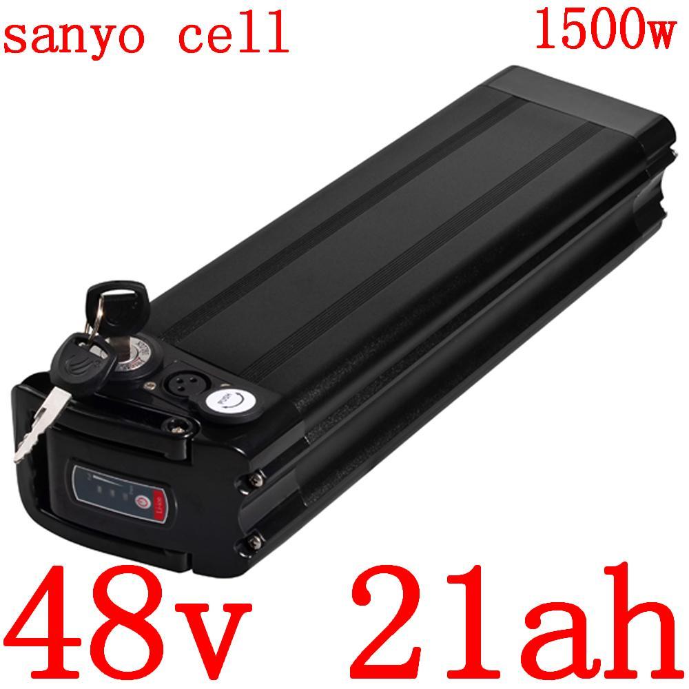 48V Batterie 20AH Elektro-Bike 10AH 14AH 17.5AH 21AH Lithium Verwendung sanyo Zelle 1000W 1500W Ebike Motor