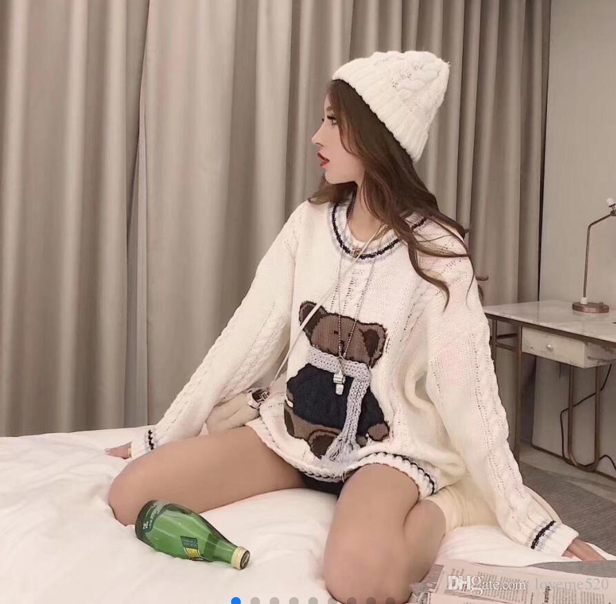 Tejidos de las mujeres Tees 2019 suéteres de diseño europeo y americano otoño y calientes collares, collares, blusas, suéteres de Hip Hop de invierno