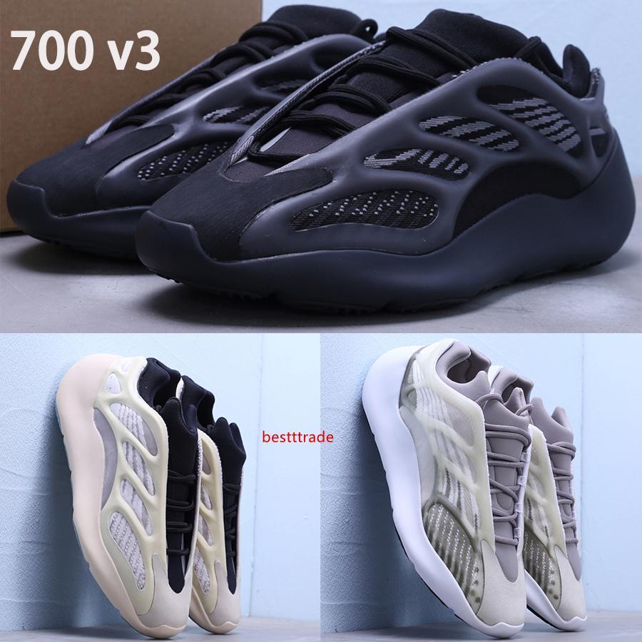 Nueva Azael Alvah 700 mens oeste V3 kanye zapatillas Blanco Resplandor en la oscuridad de lujo al aire libre de los hombres de las mujeres de las zapatillas de deporte del diseñador