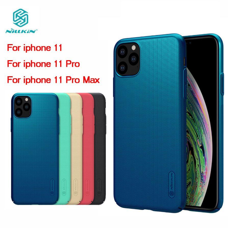 Pour iphone 11 Pro Max Couverture Nillkin Bouclier Givré PC Dur Couverture Arrière pour iphone 11 Téléphone Case iphone11 Pro