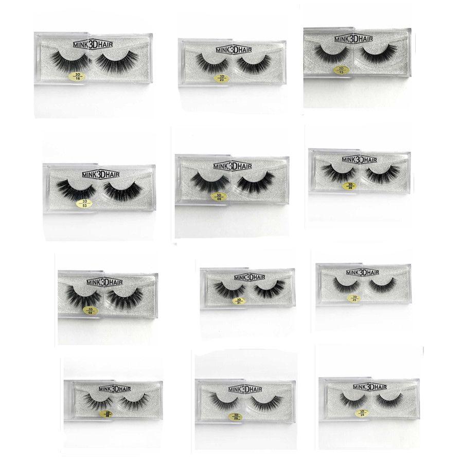 3D Mink Eyelashes False Eyelash Thick Handmade Natural Long Fake Eyelashes Cross Faux Eye Makeup for Women