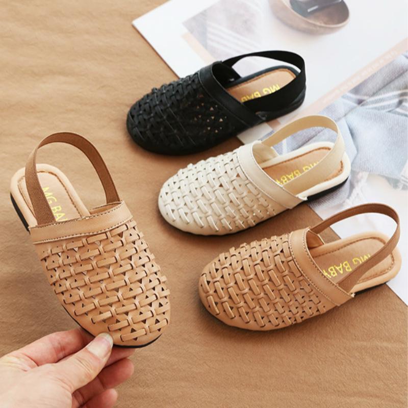 Sandali con modello di maglia per bambini Scarpe Principessa e Flat Heel Mini Melissa Shoes antiscivolo Sole Tempo libero per ragazze sandali di estate