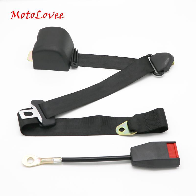 MotoLovee Universal retrátil cinto de segurança de três pontos Car automaticamente Assento Locking Grey cinto de segurança FEB006