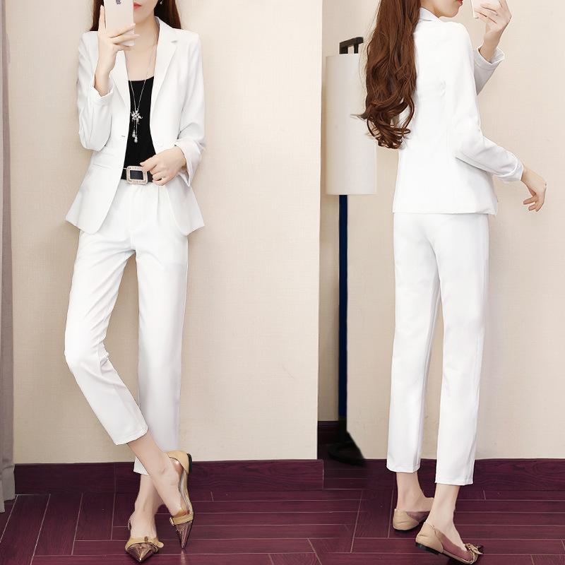 Yeni kadın takım elbise moda iki parçalı yaz seti kadın giysileri kadınlar için pantolon takım elbise