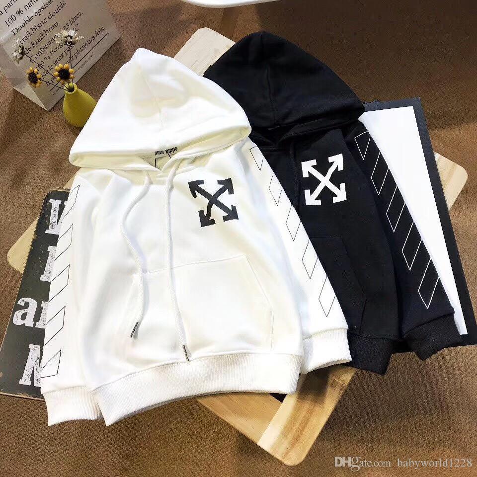 C1556 2020 Yeni Bahar Sonbahar Bebek Erkekler ve Kızlar Giyim Pamuk Kapşonlu Sweatshirt Çocuk Çocuk Casual Spor Bebek Giyim