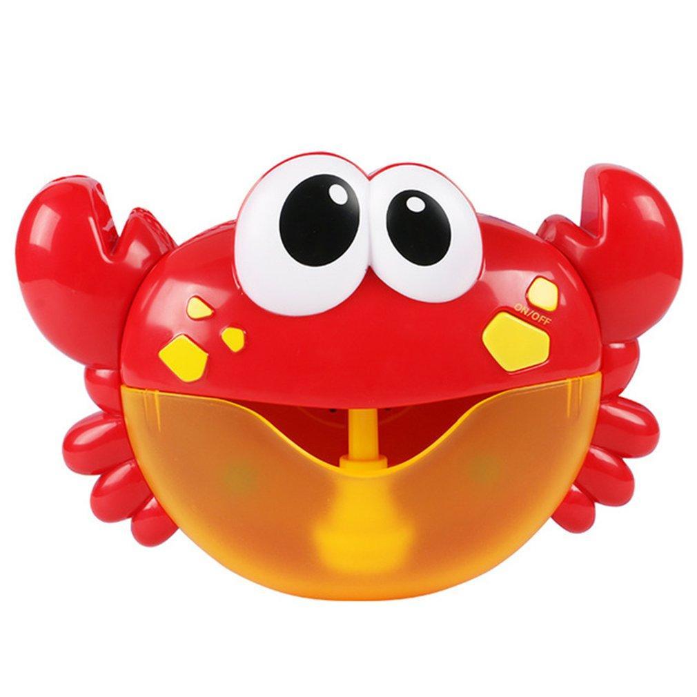 Outdoor-Blase FrogCrabs Baby-Bad-Spielzeug-Bubble Maker Schwimmen Badewanne Seife Maschine Spielzeug für Kinder mit Musik Wasserspielzeug