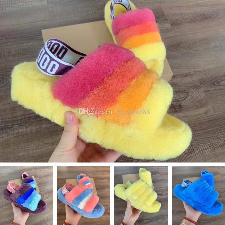 2022 Новые модные женские туфли Австралия пуха Yeah Slide дизайнер роскошные ботинки сапоги осенние зимние ботинки сандалии белые черные туфли