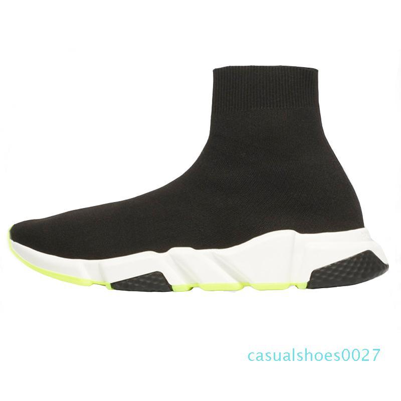 2019 Tasarımcı Ayakkabı Hız Eğitmen Siyah Kırmızı Gypsophila Üçlü Siyah Moda Düz Çorap Çizme Erkekler Kadınlar Günlük Ayakkabılar Runner ile Toz Torbası C27