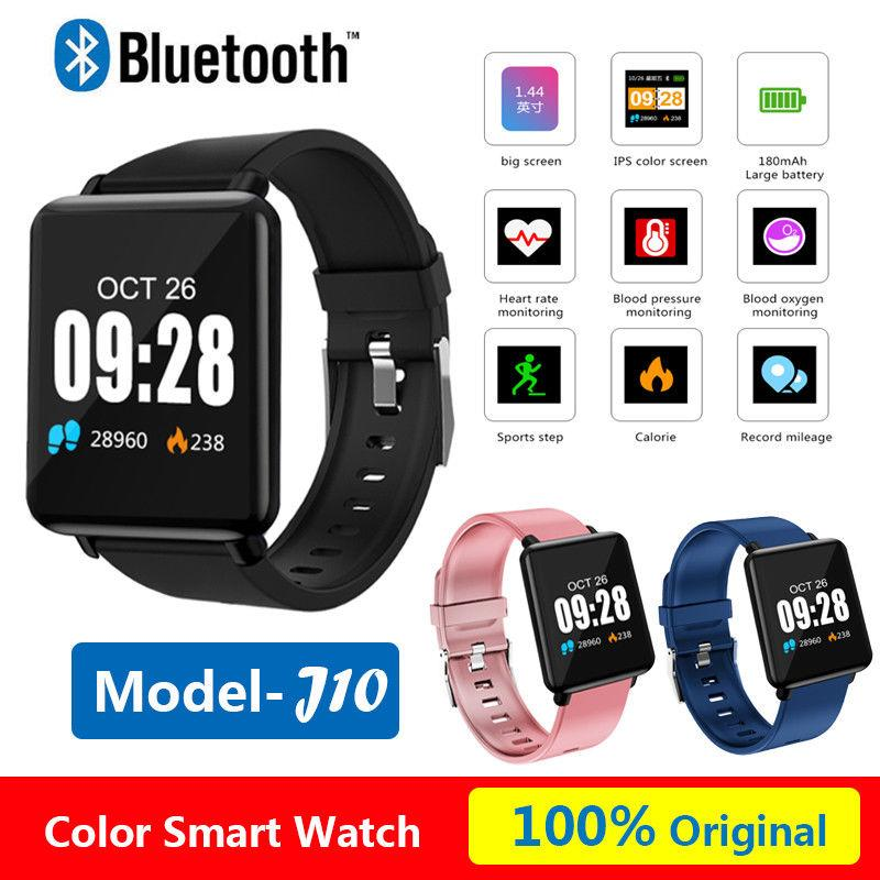 1.44'' Color Smart Watch J10 Sport Pedometer Blood Pressure Waterproof for IOS Android With Retail Box