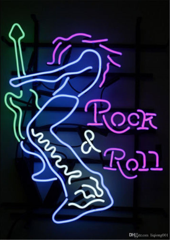 New Star Neon Sign Factory 19X15 pulgadas Real Glass Lámpara de señal de neón para Beer Bar Pub Garage Room Rock'N'Roll.