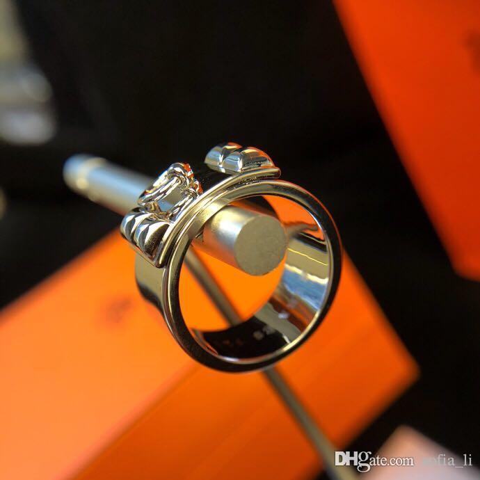 Роскошные новое дизайнер кольца мужские ювелирные аксессуары кольцо мужчин и любителей женщин подарок ограниченное издание ремень пряжка толстый лед Ф