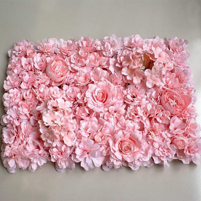 40x60cm luxe en soie artificielle Panneaux de mur de fleur Fleur blanche Décoration florale Toile de fond Party Decoration de mariage, Panneau herbe